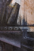 "Nick de Angelis ""Untitled"" Oil on Board Painting, Close Up 5"