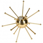 Italian Brass Sputnik Table Lamp