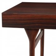 Nanna Ditzel & Jorgen Ditzel Rosewood Four Drawer Desk, Close Up View of 3/4 Left Side
