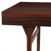 Nanna Ditzel & Jorgen Ditzel Rosewood Four Drawer Desk, Close Up View of 3/4 Left Side