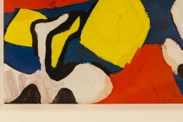 Nell Blaine Abstract Gouache on Paper
