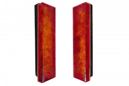Paolo De Poli Enameled Copper Door Pulls with Brass Hardware