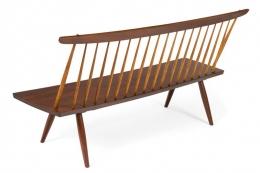 George Nakashima Walnut Spindle Back Bench
