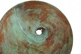 Harry Bertoia Patinated Solid Bronze Gong Sculpture