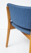 Nanna Ditzel ND83 Lounge Chairs Upholstered in Blue Fabric, Close Up