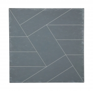 "Hard Edge Painting in Black and White ""Diagonals"" by Duayne Hatchett"