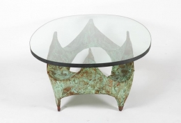 Paul Evans Hand-Hammered and Patinated Copper Studio Coffee Table