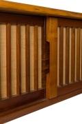 George Nakashima Free Edge Black Walnut Wall Mounted Cabinet