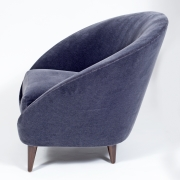 Pair of Gray Mohair Mid-Century Italian Style Lounge Chairs, 4