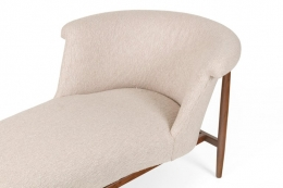 Scandinavian Mid-Century Modern Chaise Lounge in the Style of Nanna Ditzel