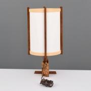 George Nakashima Buckeye Burl & Parchment Table Lamp