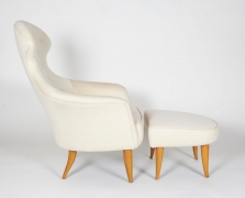 """Big Eva"" Lounge Chair and Ottoman by Kerstin Hörlin-Holmquist, Side View"