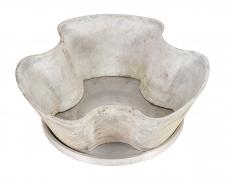 Concrete Planters by Eternit with Aluminum Trays