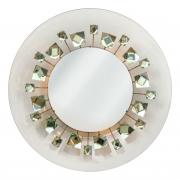 Ghiro Studios Backlit Chisel Cut Glass Mirror,