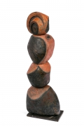 French Ceramic Totem Sculpture