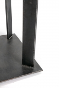 Artist Made Industrial Steel Pedestal Stand by Robert Koch, Cropped Bottom View