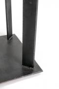 Artist Made Industrial Steel Pedestal Stand by Robert Koch, Cropped Bottom View