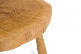 "Solid Oak ""Troll"" Occasional Table by Lop Furniture, Cropped Close Up View"