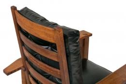Gustav Stickley #369 Bent Arm Arts & Crafts Morris Chair
