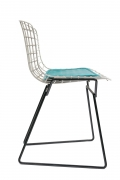 Harry Bertoia Child's Chair in White with Original Knoll Seat Pad