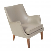 Pair of Arne Vodder Leather Lounge Chairs by Ivan Schlechter