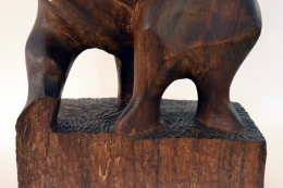 Hand-Carved Walnut Sculpture of Dancers by John Begg, Close Up 3