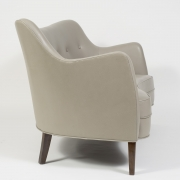 """Scandinavian Mid-Century Nanna Ditzel """"Allé Sofa"""" Reupholstered in Leather, Side View"""