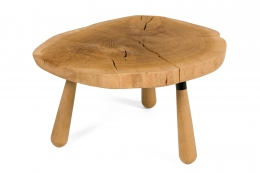 "Solid Oak ""Troll"" Occasional Table by Lop Furniture"