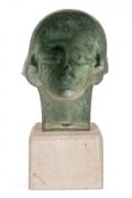 "Gertrude Vanderbilt Whitney Bronze Sculpture ""Young Woman"", Back"