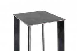 Artist Made Industrial Steel Pedestal Stand by Robert Koch, Top View