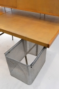 George Nelson Wood and Leather Office Desk for Herman Miller, View of Bin