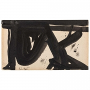 Franz Kline, Signed Abstract Ink on Paper