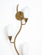 Glass & Brass Wall Light
