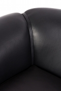 Black Leather Lounge Chair by Illum Wikkelsø, Close Up 2