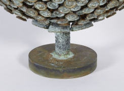 """Bronze and Copper Sculpture """"Autumn Bloom"""" by Douglas Ihlenfeld, Close Up 1"""