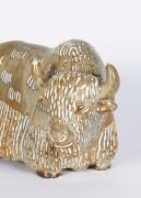 Stoneware Figure of a Water Buffalo, Gunnar Nyland for Rorstrand