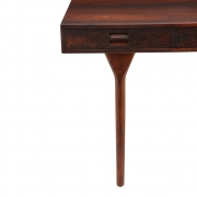 Nanna Ditzel & Jorgen Ditzel Rosewood Four Drawer Desk, Close Up View of Left Side