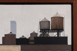 """Oil on Board Painting """"Up on the Roof"""" by Max Ferguson"""