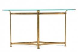 La Barge Brass Console Table
