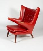 """Hans J. Wegner """"Papa Bear"""" Chair for A.P. Stolen, 3/4 View"""