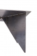 Artist Made Architectural Steel Table by Robert Koch, Side View Cropped Bottom