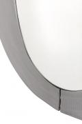 Sculptural Aluminum Framed Mirror by Artist Lorenzo Burchiellaro