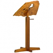 Burl, Elm and Walnut Adjustable Music Stand by George Nakashima