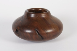 Melvin Lindquist Walnut Root Burl Turned Vase