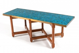 Dunbar Murano Glass Tile Top Coffee Table by Edward Wormley