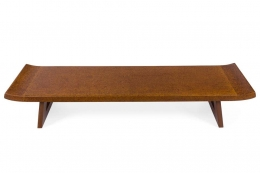 Paul Frankl Cork & Mahogany Coffee Table for Johnson Furniture