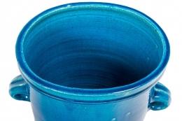 Nils Kähler Blue Stoneware Vase for Herman A. Kahler Keramik