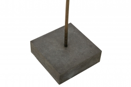 Harry Bertoia Gilt Bronze, Brass and Steel Dandelion Sculpture, Close Up of Base
