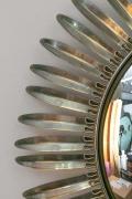 Brass Convex Sunburst Mirrors