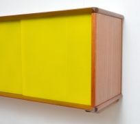 Wall Mounted Cabinet with Glass Doors by Didier Rozaffy for Oscar